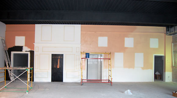Художественная роспись стен в кафе