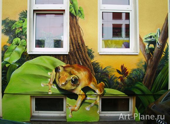 Роспись фасада загородного дома