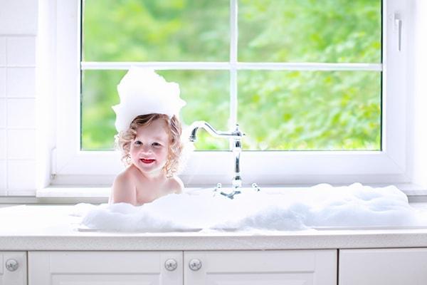 Оформление детских ванных комнат