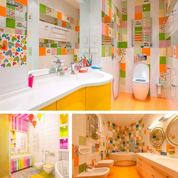 Детская ванная комната идеи декора и краски
