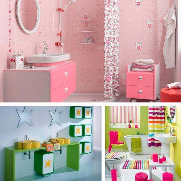 Идея для украшения детской ванной комнаты